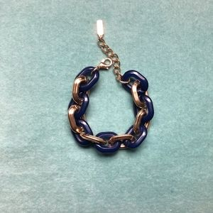 Bauble Bar Navy/Gold Link Bracelet